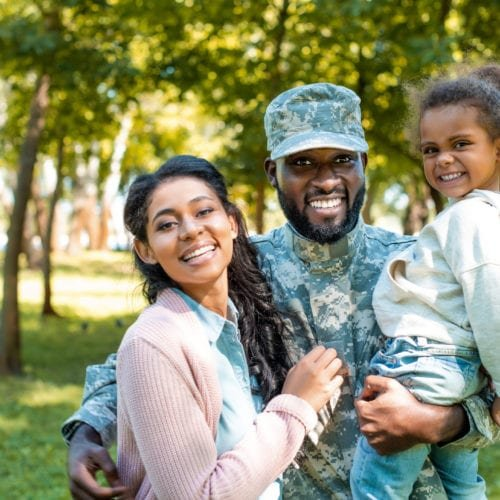 happy military family looking for extended stays near military bases