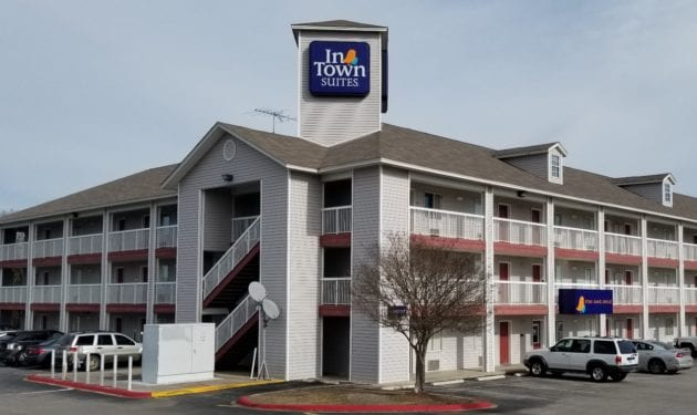 Exterior photo of INTOWN SUITES EXTENDED STAY SAN ANTONIO TX – LEON VALLEY NORTH.